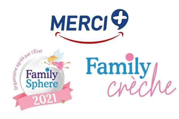 Logos MERCI+ Family Creche Family Sphere